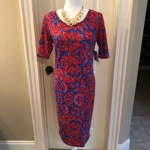 NWT LuLaRoe Red & Blue Julia Dress